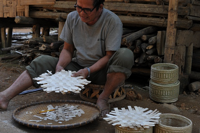 Man making a basket