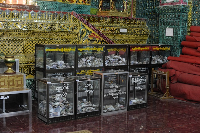 money boxes in temples