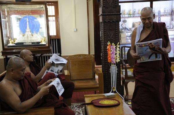 reading monks