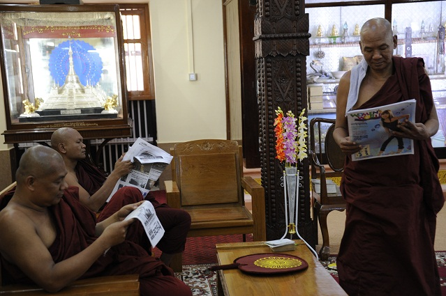 reading monks