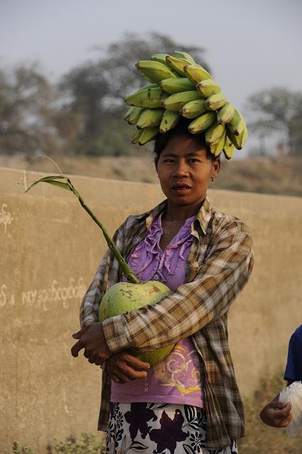 carrying bananas