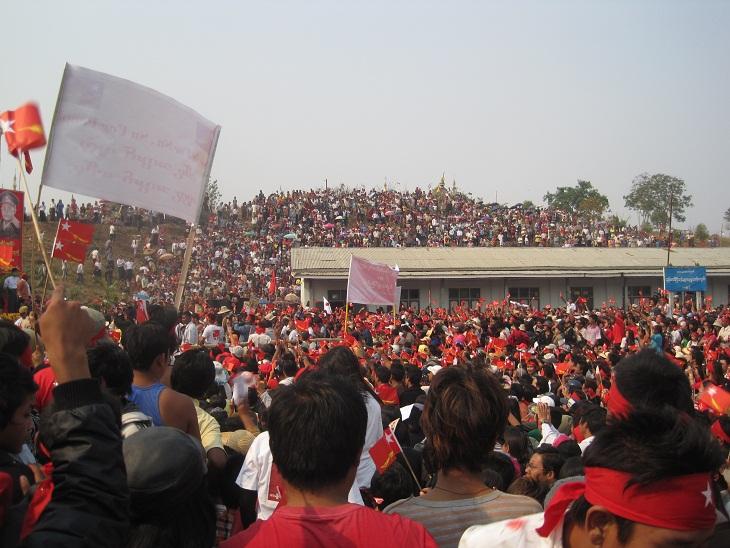 waiting for Aung San Suu Kyi
