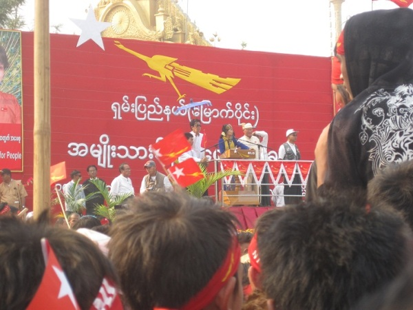 Aung San Suu Kyi in Lashio