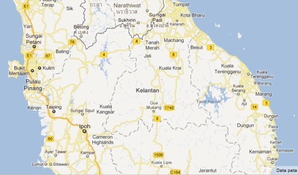 Malaysia map North