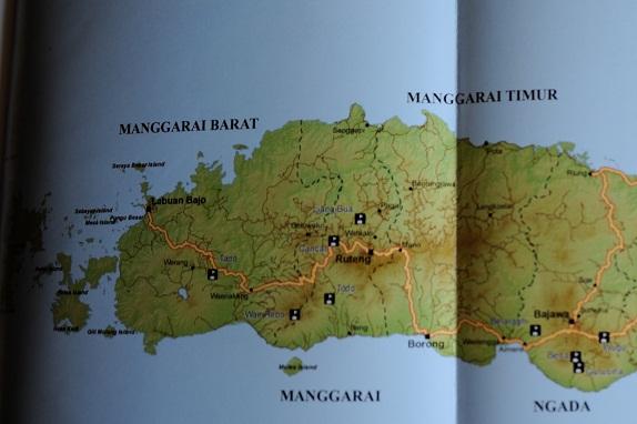 Map Flores Ouest