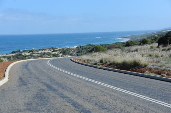road with sea