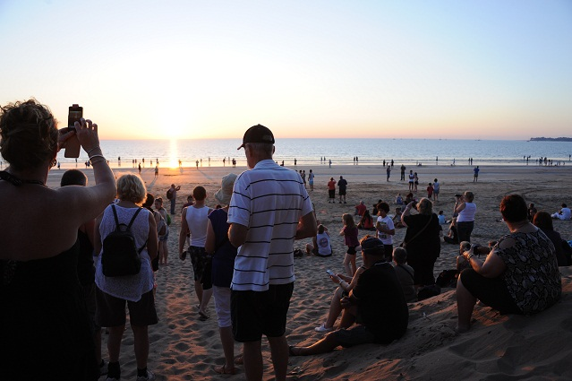 sunset with other people